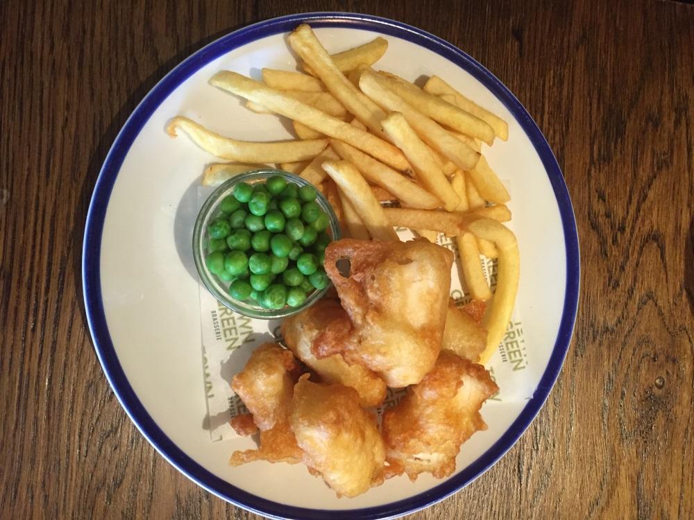 Crispy Fish Bites with Peas